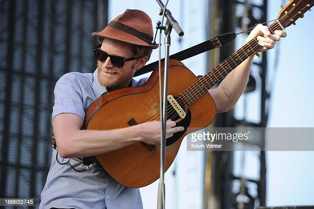 Musician Wesley Schultz of the band The Lumineers performs onstage during day 3 of the 2013 Coachella Valley Music Arts Festival at the Empire Polo...