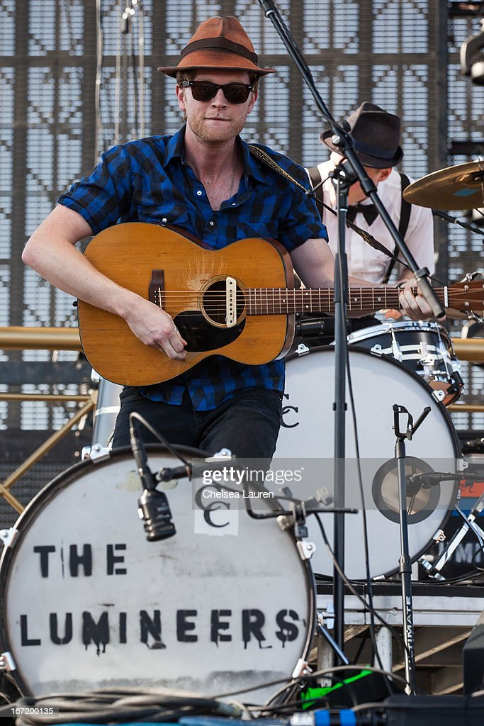 Musician Wesley Schultz of The Lumineers performs during the Coachella Valley Music & Arts Festival at The Empire Polo Club on April 21, 2013 in Indio, California.