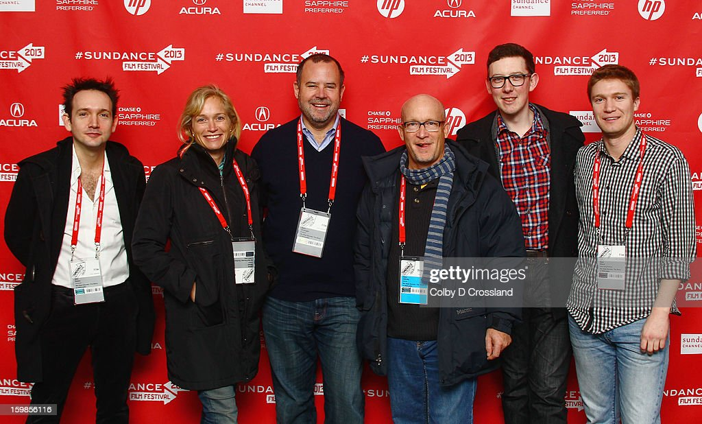 Musician Will Bates, producer Alexis Bloom, producer Marc Shmuger, filmmaker Alex Gibney, James Ball and producer Sam Black attend the 'We Steal Secrets: The Story Of Wikileaks' premiere at The Marc Theatre during the 2013 Sundance Film Festival on January 21, 2013 in Park City, Utah.