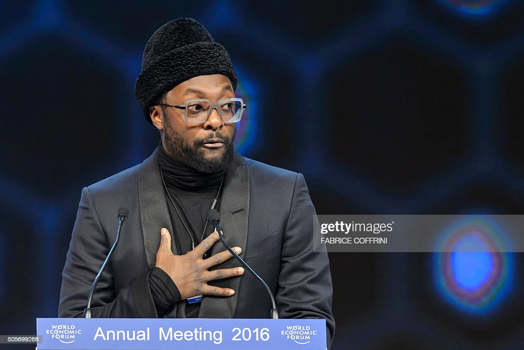 US musician William Adams aka William of the music group the Black Eyed Peas deliver a speech after he was awarded during the 22nd Annual Crystal...