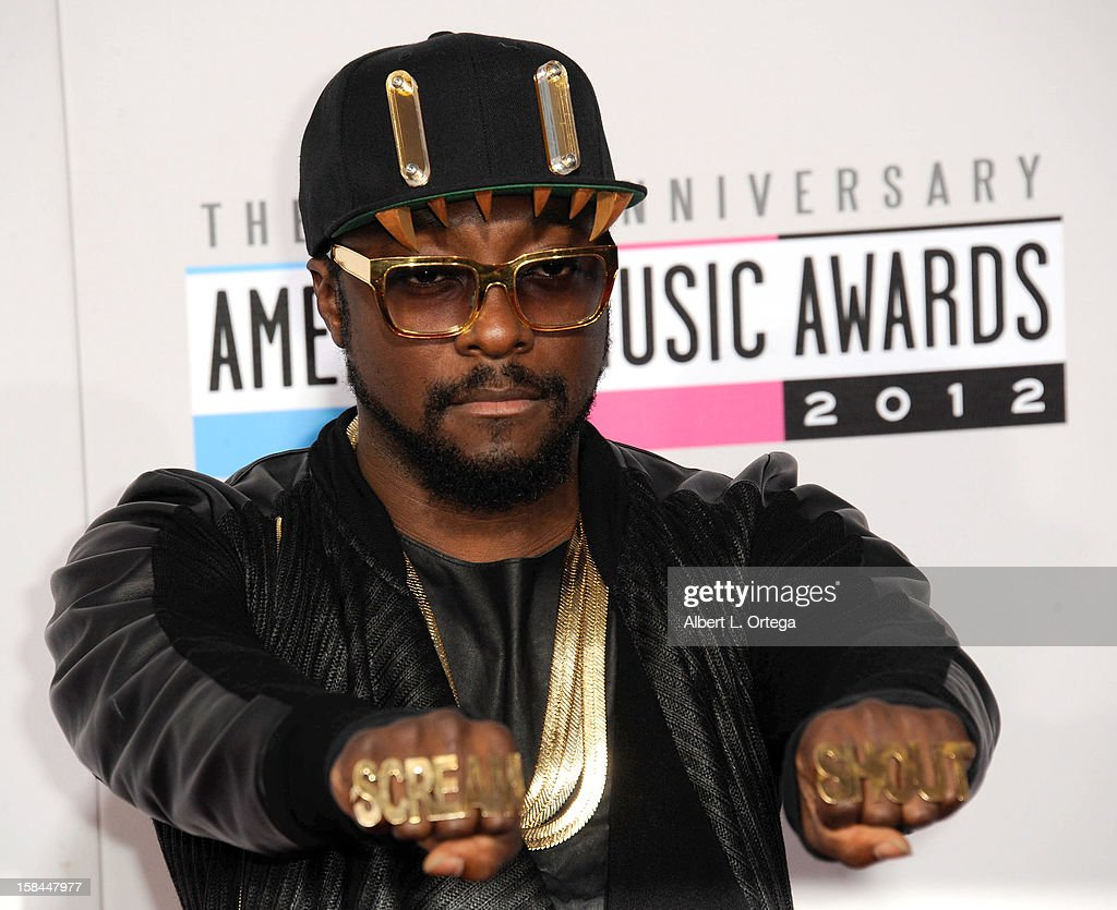 Musician will.i.am arrives for the 40th Anniversary American Music Awards - Arrivals held at Nokia Theater L.A. Live on November 18, 2012 in Los Angeles, California.