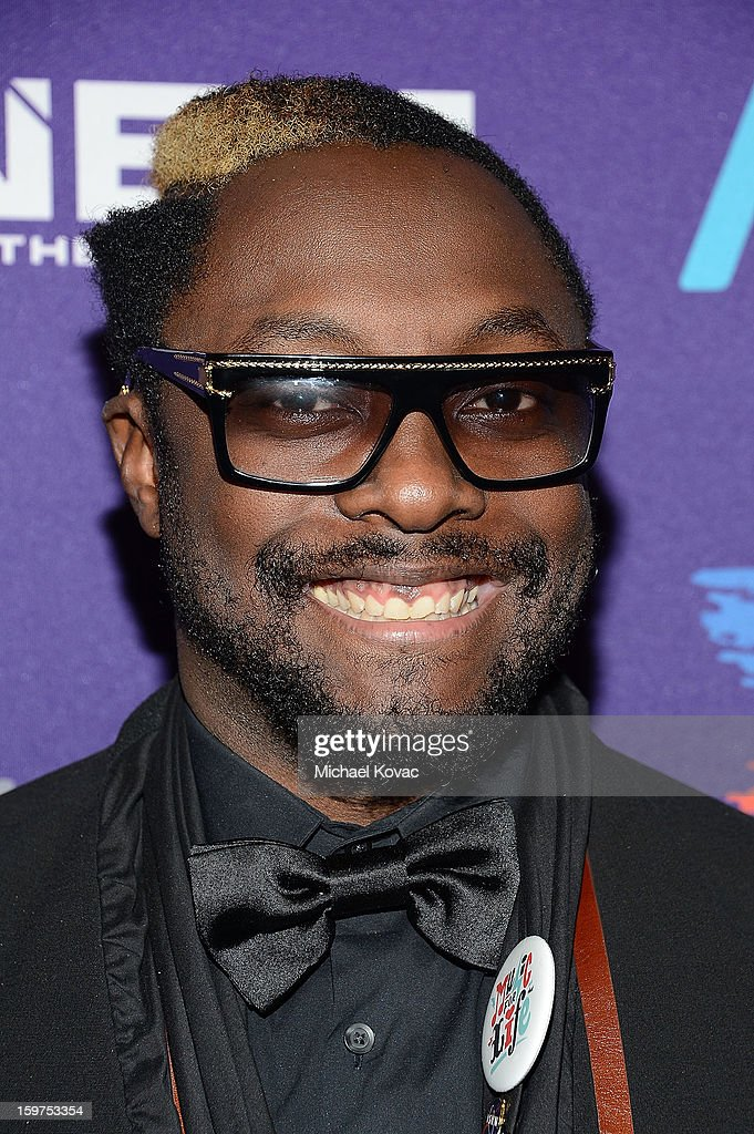 Musician will.i.am of the Black Eyed Peas attends the Inaugural Youth Ball hosted by OurTime.org at Donald W. Reynolds Center on January 19, 2013 in Washington, United States.
