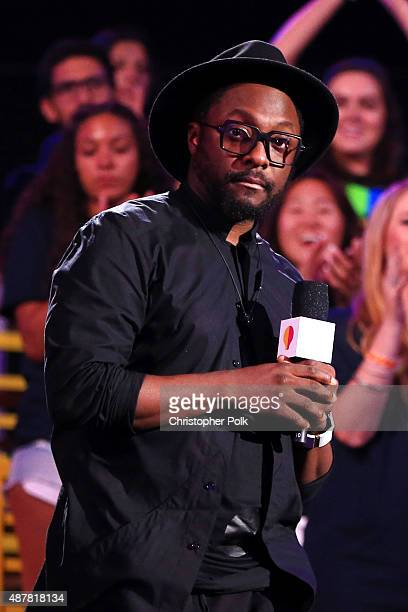 Musician william speaks onstage during the Think It Up education initiative telecast for teachers and students hosted by Entertainment Industry...