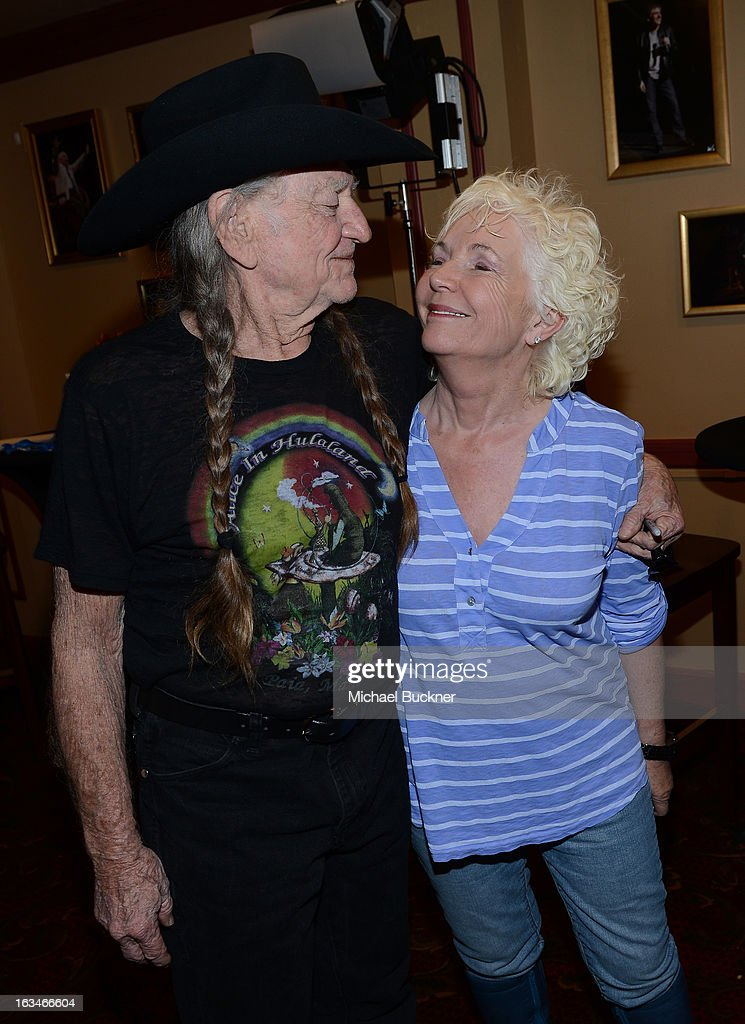 Musician <a gi-track='captionPersonalityLinkClicked' href=/galleries/search?phrase=Willie+Nelson&family=editorial&specificpeople=203154 ng-click='$event.stopPropagation()'>Willie Nelson</a> (L) and actress <a gi-track='captionPersonalityLinkClicked' href=/galleries/search?phrase=Fionnula+Flanagan&family=editorial&specificpeople=549651 ng-click='$event.stopPropagation()'>Fionnula Flanagan</a> attend the screening of 'When Angels Sing' during the 2013 Music, Film + Interactive Festival at the Paramount Theatre on March 10, 2013 in Austin, Texas.