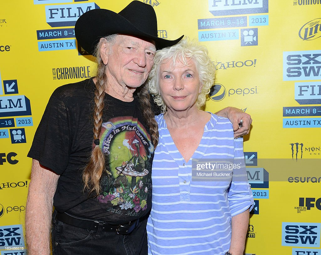 Musician <a gi-track='captionPersonalityLinkClicked' href=/galleries/search?phrase=Willie+Nelson&family=editorial&specificpeople=203154 ng-click='$event.stopPropagation()'>Willie Nelson</a> (L) and actress <a gi-track='captionPersonalityLinkClicked' href=/galleries/search?phrase=Fionnula+Flanagan&family=editorial&specificpeople=549651 ng-click='$event.stopPropagation()'>Fionnula Flanagan</a> attends the screening of 'When Angels Sing' during the 2013 Music, Film + Interactive Festival at the Paramount Theatre on March 10, 2013 in Austin, Texas.