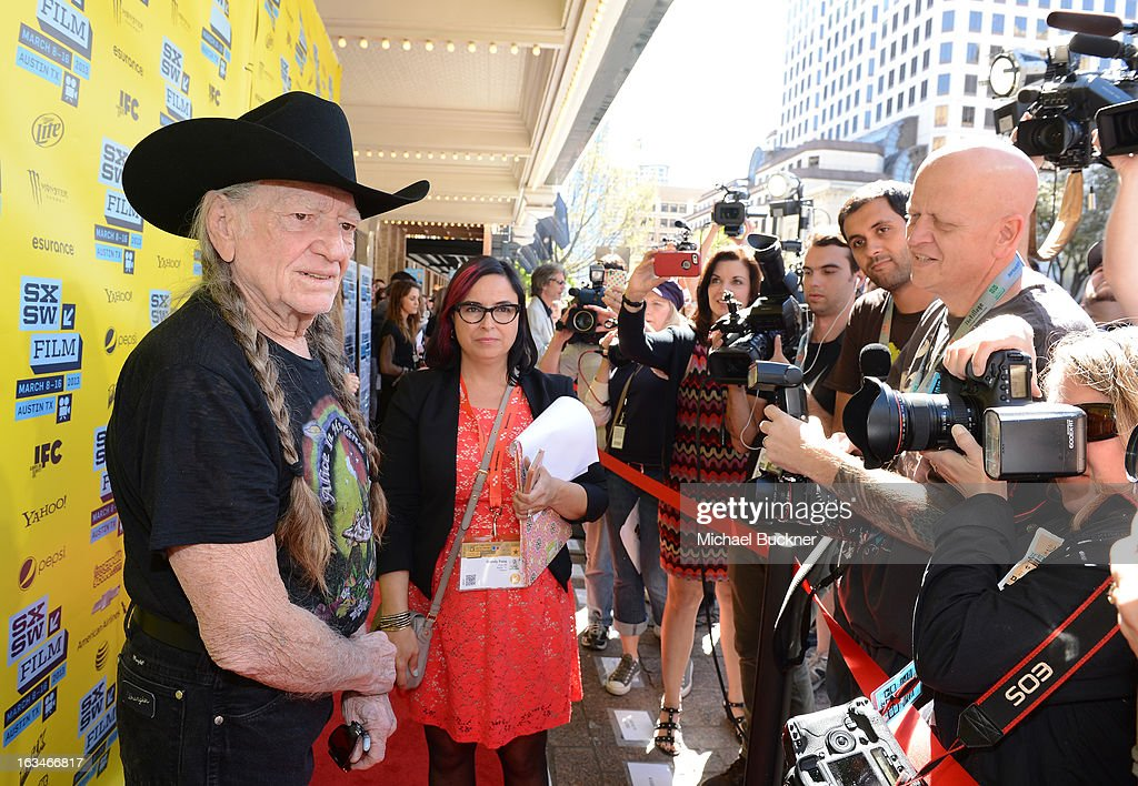 Musician <a gi-track='captionPersonalityLinkClicked' href=/galleries/search?phrase=Willie+Nelson&family=editorial&specificpeople=203154 ng-click='$event.stopPropagation()'>Willie Nelson</a> attends the screening of 'When Angels Sing' during the 2013 Music, Film + Interactive Festival at the Paramount Theatre on March 10, 2013 in Austin, Texas.