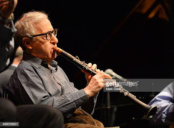 Musician Woody Allen performs with his New Orleans Jazz band at Royce Hall UCLA on December 23 2013 in Westwood California
