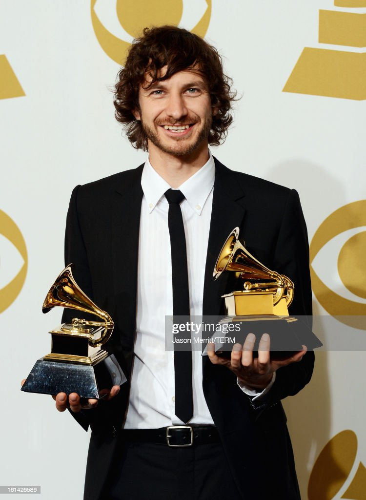 Musician Wouter De Backer, winner of Best Pop Duo/Group Performance, Best Alternative Music Album and Record of The Year, poses in the press room at the 55th Annual GRAMMY Awards at Staples Center on February 10, 2013 in Los Angeles, California.