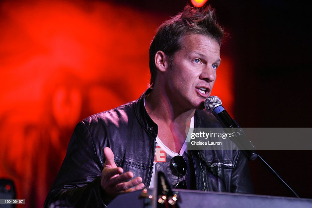 Musician / wrestler Chris Jericho attends the Revolver Golden Gods Awards press conference at Hard Rock Cafe - Hollywood on January 30, 2013 in Hollywood, California.
