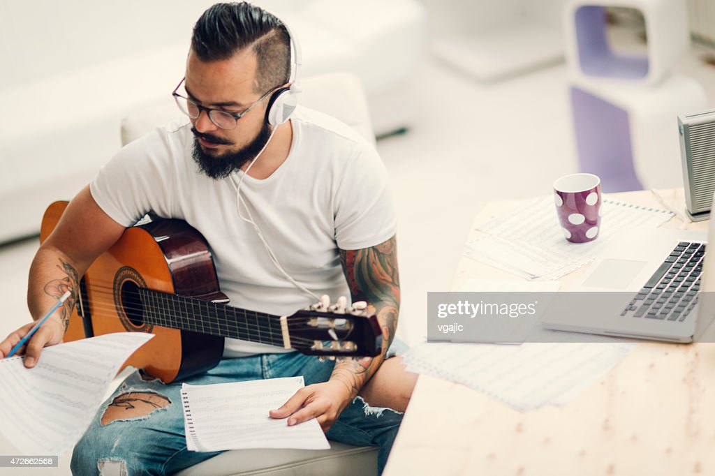 Musician Writing Song.