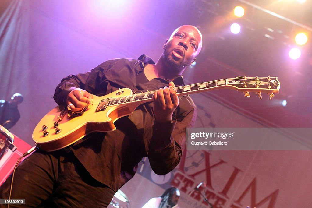 Musician Wyclef Jean performs at the Maxim Party Powered by Motorola Xoom at Centennial Hall at Fair Park on February 5, 2011 in Dallas, Texas.