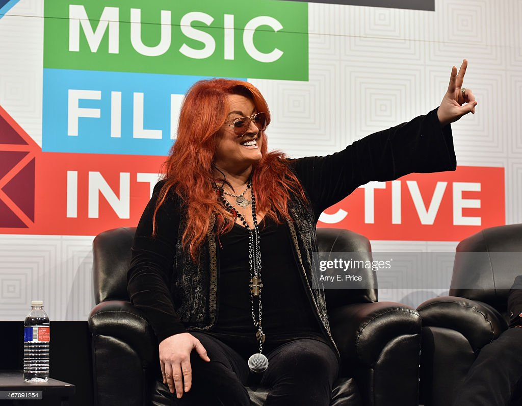 Musician Wynonna Judd speaks onstage at SXSW Interview Wynonna Judd during the 2015 SXSW Music Film Interactive Festival at Austin Convention Center...