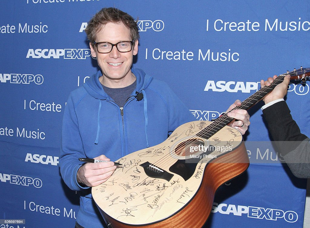 Musician Xandy Berry signs a #StandWithSongwriters guitar, which will be presented in May to members of Congress to urge them to support reform of outdated music licensing laws, during the 2016 ASCAP 'I Create Music' EXPO on April 30, 2016 in Los Angeles, California.