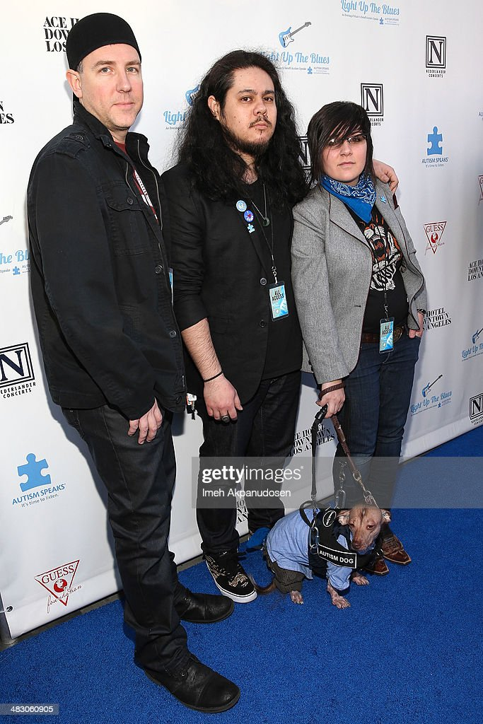 Musician Xolie Morra Cogley (R) and fellow Xolie Morra & The Strange Kind band members attend the 2nd Light Up The Blues Concert - An Evening Of Music To Benefit Autism Speaks at The Theatre At Ace Hotel on April 5, 2014 in Los Angeles, California.