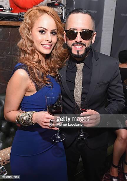 Musician Yandel and wife Edneris Espada Figueroa attend the HBO Latino red carpet premiere of the 'Camino Al Concierto and Legacy De Lider a Leyenda'...