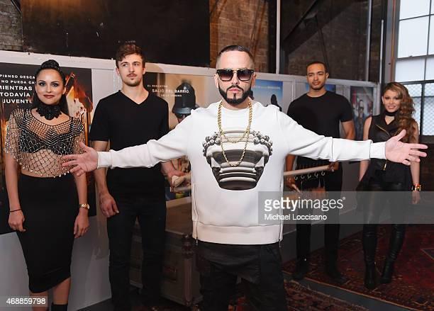 Musician Yandel attends the HBO Latino red carpet premiere of the 'Camino Al Concierto and Legacy De Lider a Leyenda' at Center 548 on April 7 2015...