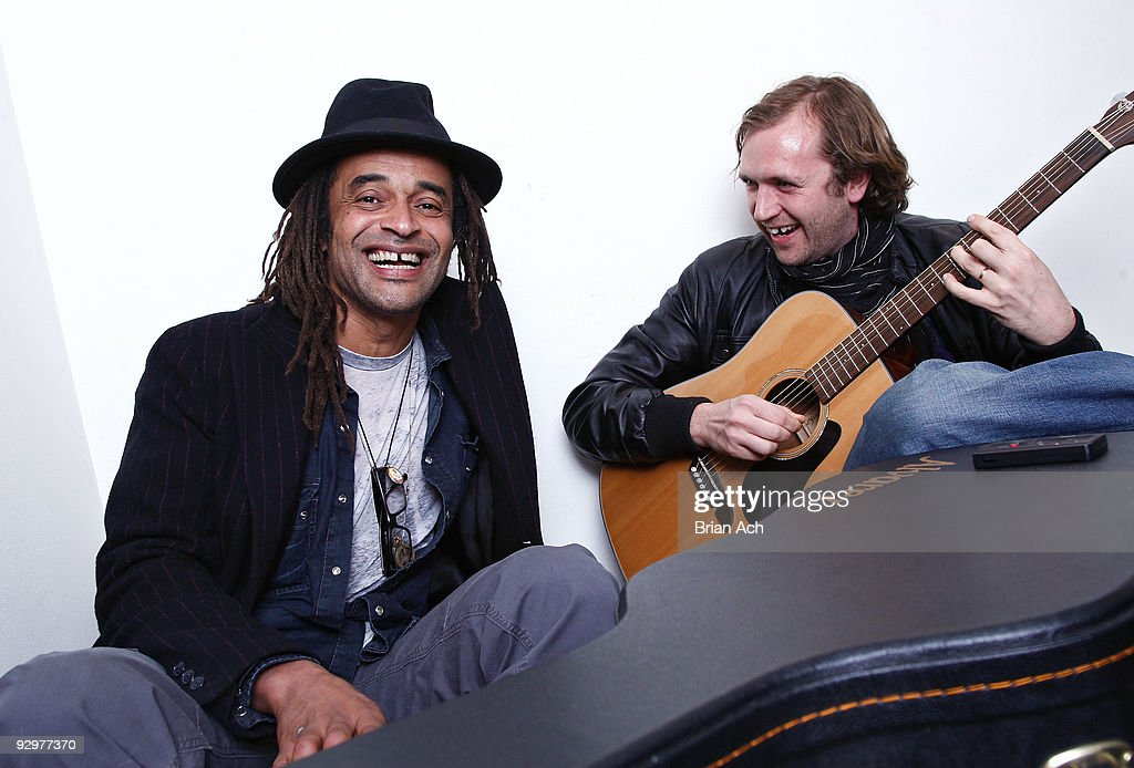 Musician Yannick Noah (L) and guest attend the 6th Annual Ten O'Clock Classics benefit gala at the The Union Square Ballroom on November 10, 2009 in New York City.