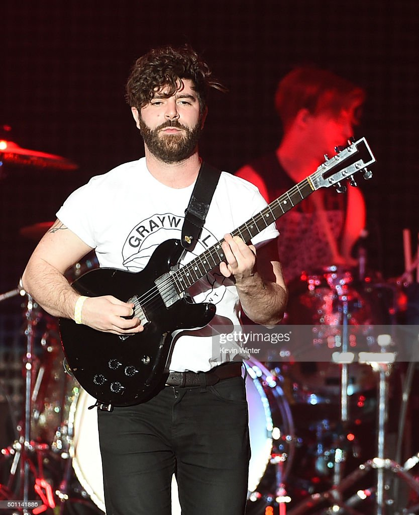 Musician Yannis Philippakis of Foals performs onstage during 1067 KROQ Almost Acoustic Christmas 2015 at The Forum on December 12 2015 in Los Angeles...