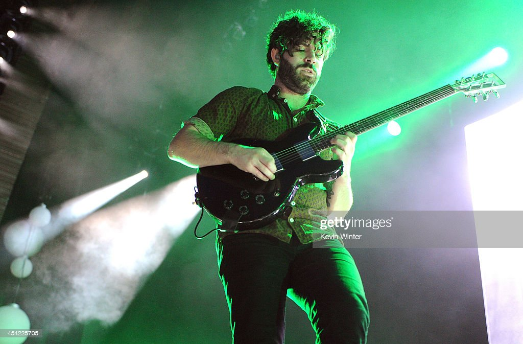 Musician Yannis Philippakis of Foals performs onstage during The 24th Annual KROQ Almost Acoustic Christmas at The Shrine Auditorium on December 7...