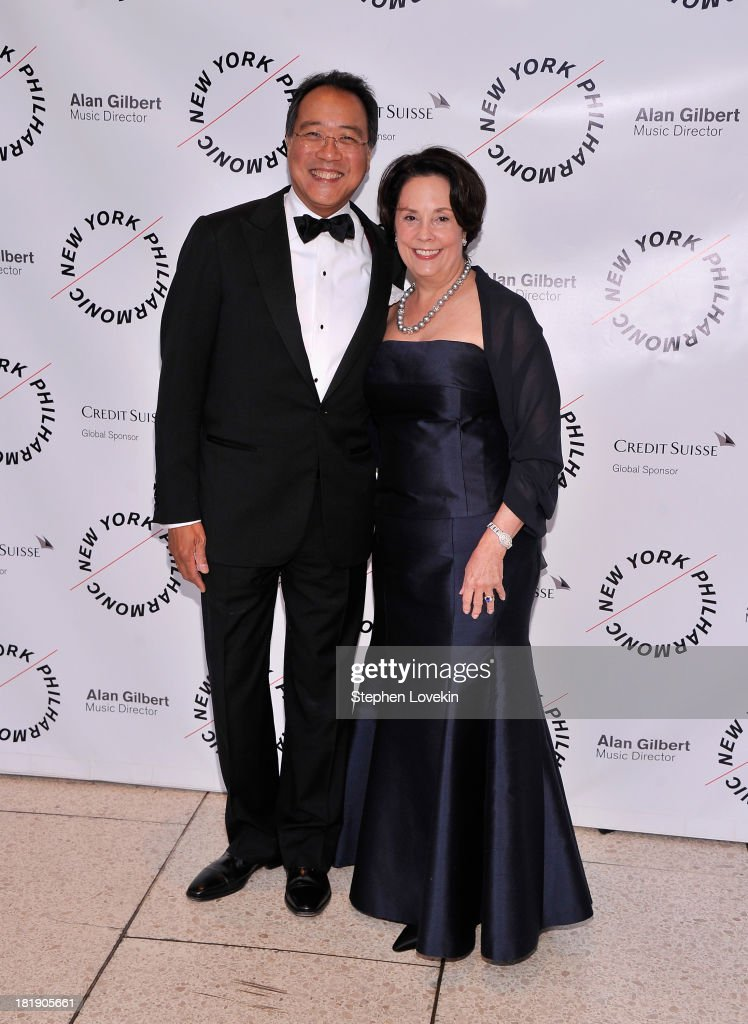 Musician Yo Yo Ma and Jill Horner attend The New York Philharmonic 172nd Season Opening Night Gala at Avery Fisher Hall, Lincoln Center on September 25, 2013 in New York City.