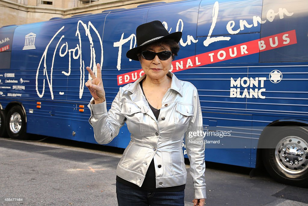 Musician Yoko Ono attends the John Lennon Educational Tour Bus Event at P.S. 171 Patrick Henry School on September 15, 2014 in New York City.