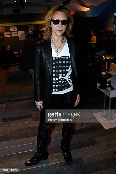 Musician Yoshiki attends the Eddie Bauer Adventure House during the 2016 Sundance Film Festival at Village at The Lift on January 24 2016 in Park...