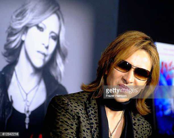 Musician Yoshiki attends the Premiere of Drafthouse Films' 'We Are X'at TCL Chinese Theatre on October 3 2016 in Hollywood California