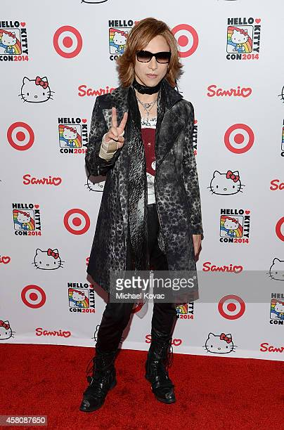 Musician Yoshiki Hayashi attends the Hello Kitty Con 2014 Opening Night Party on October 29 2014 in Los Angeles California