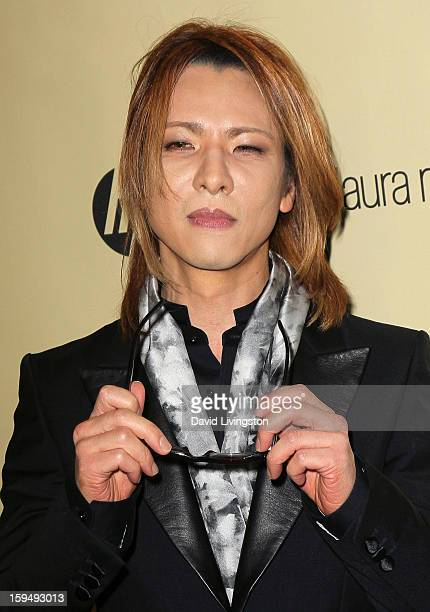 Musician Yoshiki Hayashi attends The Weinstein Company's 2013 Golden Globe Awards After Party at The Beverly Hilton hotel on January 13 2013 in...