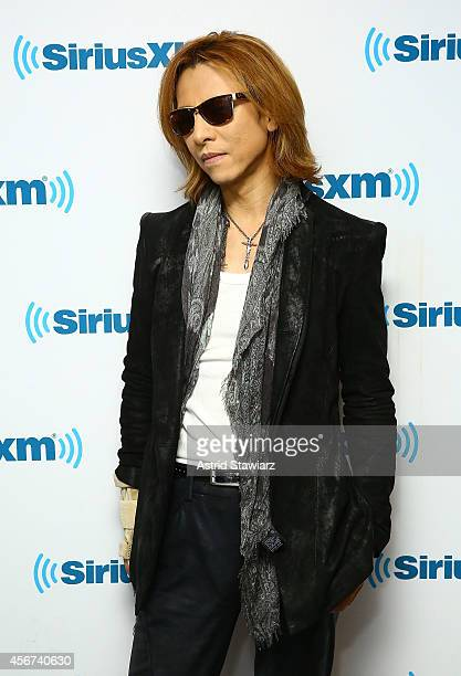 Musician Yoshiki visits the SiriusXM Studios on October 6 2014 in New York City
