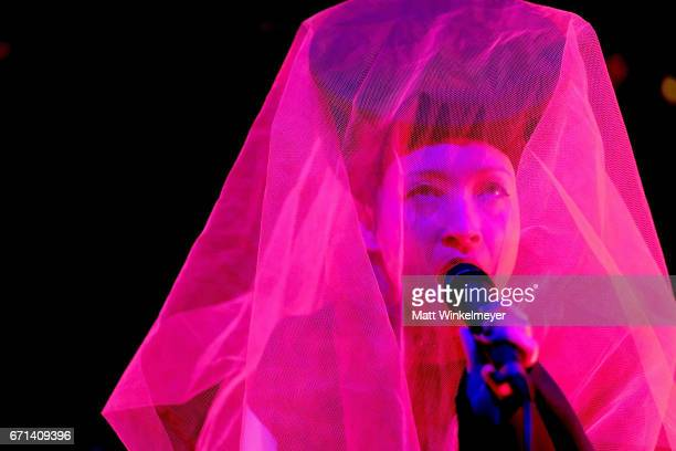 Musician Yukimi Nagano of Little Dragon performs at the Gobi Tent during day 1 of the 2017 Coachella Valley Music Arts Festival at the Empire Polo...