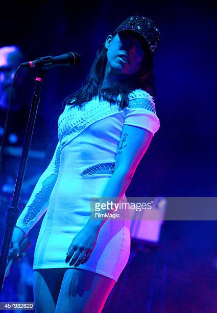 Musician Yukimi Nagano of Little Dragon performs onstage during day 3 of the 2014 Life is Beautiful festival on October 26 2014 in Las Vegas Nevada