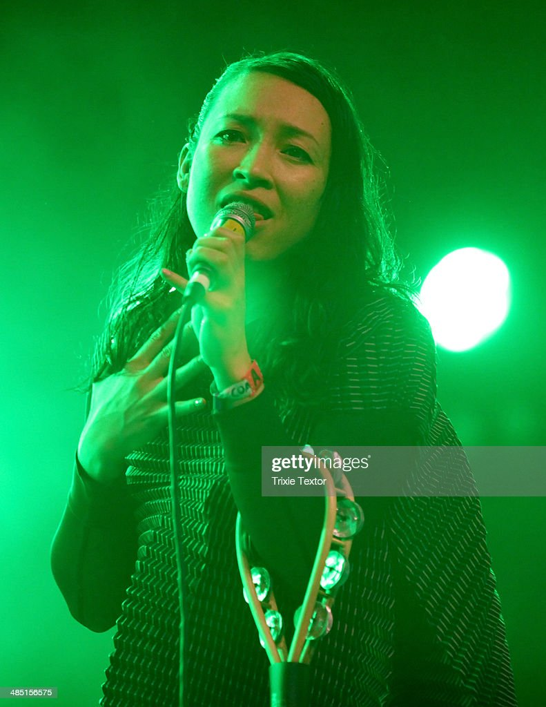 Musician Yukimi Nagano of the band Little Dragon performs onstage during day 3 of the 2014 Coachella Valley Music & Arts Festival at the Empire Polo Club on April 13, 2014 in Indio, California.