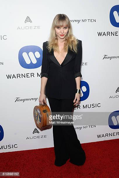 Musician Z Berg arrives at the Warner Music Group's celebration for the 58th annual Grammy Awards at Milk Studios on February 15 2016 in Los Angeles...
