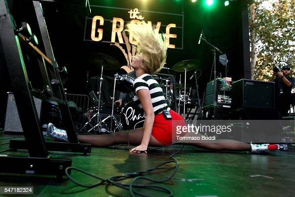 Musician Z Berg of Phases performs at the Grove's Summer Concert Series at The Grove on July 13 2016 in Los Angeles California