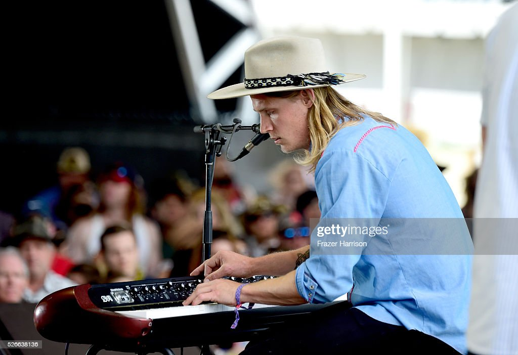 Musician Zach Chance of Jamestown Revival performs onstage during 2016 Stagecoach California's Country Music Festival at Empire Polo Club on April 30, 2016 in Indio, California.