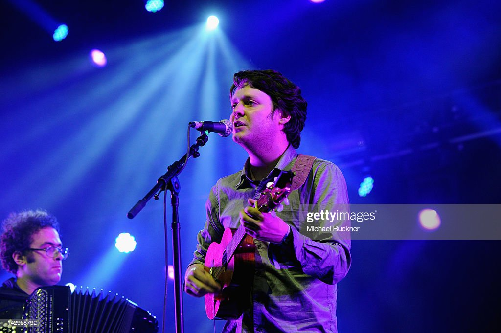 Musician Zach Condon of Beirut performs during Day 3 of the 2012 Coachella Valley Music Arts Festival held at the Empire Polo Club on April 15 2012...