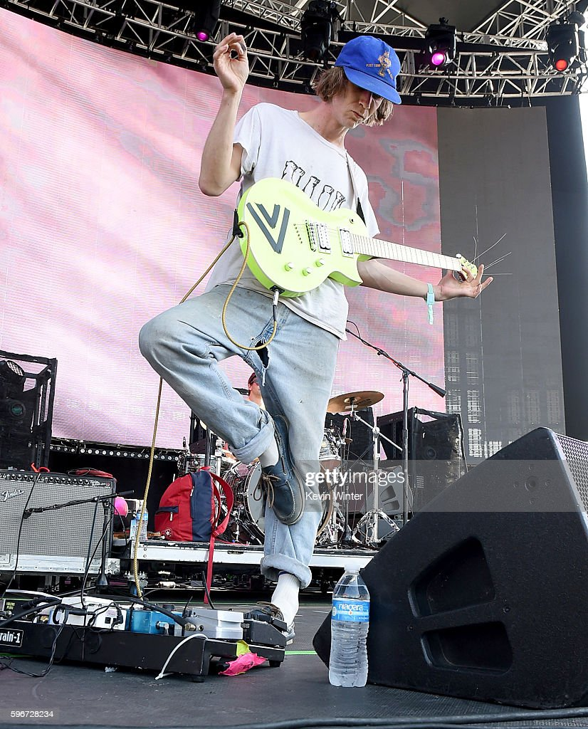 Musician Zachary Cole Smith of DIIV performs onstage during FYF Fest 2016 at Los Angeles Sports Arena on August 27 2016 in Los Angeles California