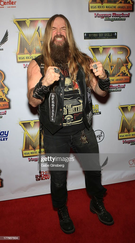 Musician <a gi-track='captionPersonalityLinkClicked' href=/galleries/search?phrase=Zakk+Wylde&family=editorial&specificpeople=2090508 ng-click='$event.stopPropagation()'>Zakk Wylde</a> arrives at the 2013 Vegas Rocks! magazine music awards at The Joint inside the Hard Rock Hotel & Casino on August 25, 2013 in Las Vegas, Nevada.
