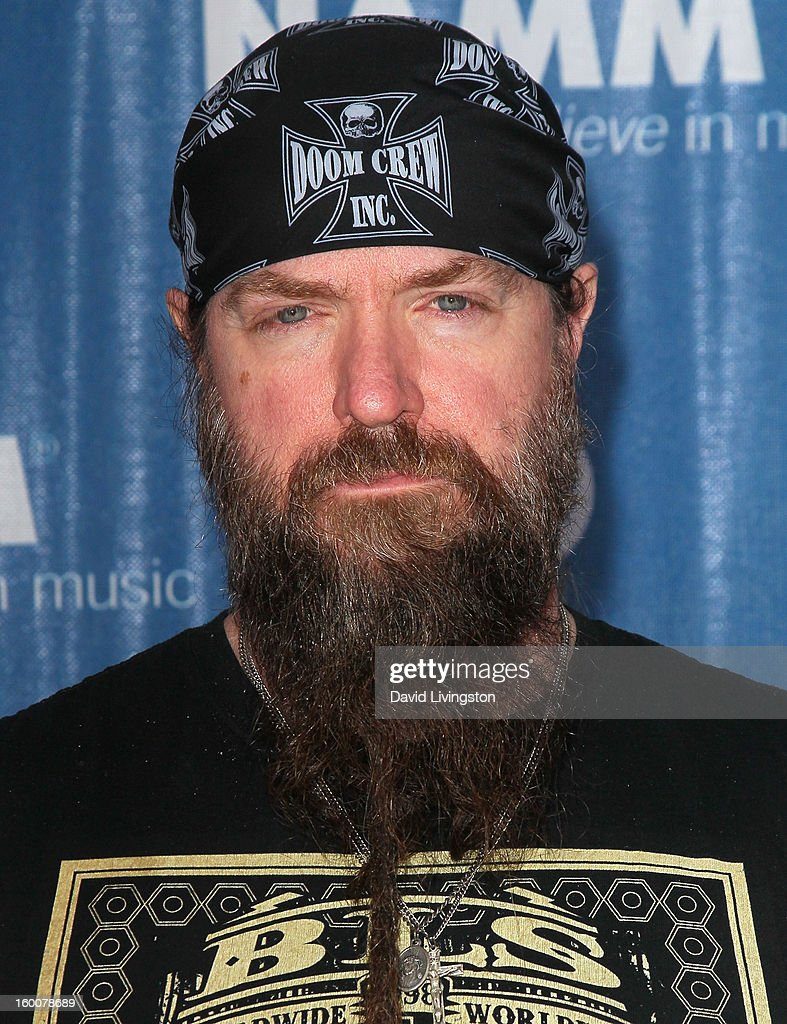 Musician <a gi-track='captionPersonalityLinkClicked' href=/galleries/search?phrase=Zakk+Wylde&family=editorial&specificpeople=2090508 ng-click='$event.stopPropagation()'>Zakk Wylde</a> attends the 2013 NAMM Show - Day 2 ate the Anaheim Convention Center on January 25, 2013 in Anaheim, California.