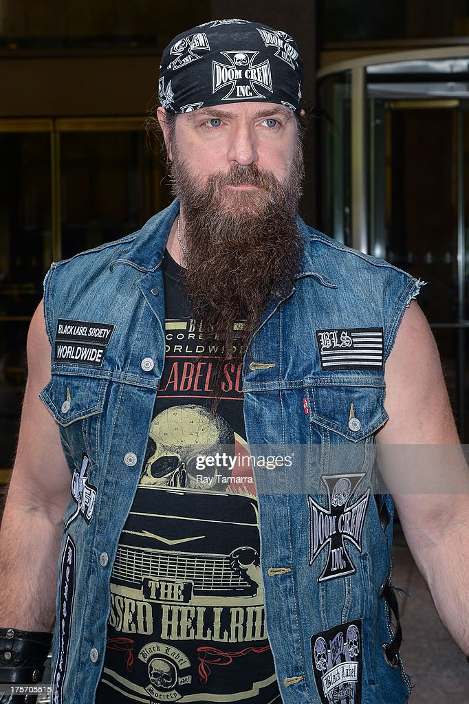 Musician <a gi-track='captionPersonalityLinkClicked' href=/galleries/search?phrase=Zakk+Wylde&family=editorial&specificpeople=2090508 ng-click='$event.stopPropagation()'>Zakk Wylde</a> leaves the Sirius XM Studios on August 6, 2013 in New York City.