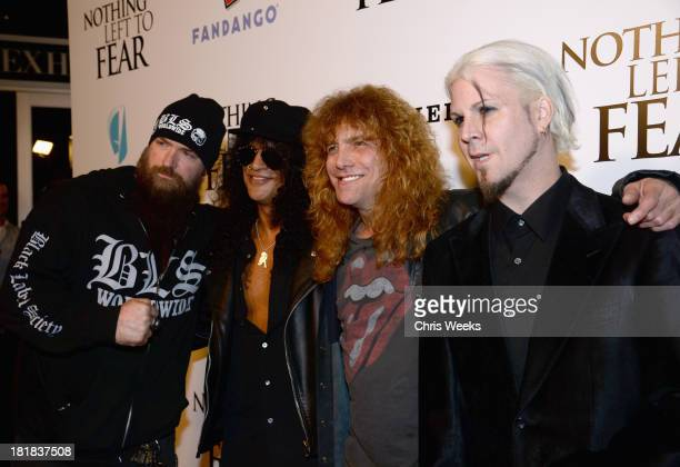 Musician Zakk Wylde producer/musician Slash drummer Steven Adler and guitarist John 5 attend the advanced screening of 'Nothing Left To Fear'...