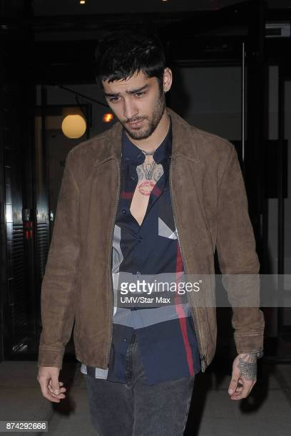 Musician Zayn Malik is seen on November 14 2017 in New York City