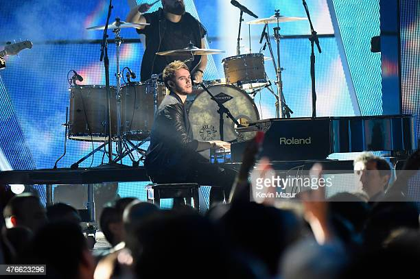 Musician Zedd performs onstage during the 2015 CMT Music awards at the Bridgestone Arena on June 10 2015 in Nashville Tennessee