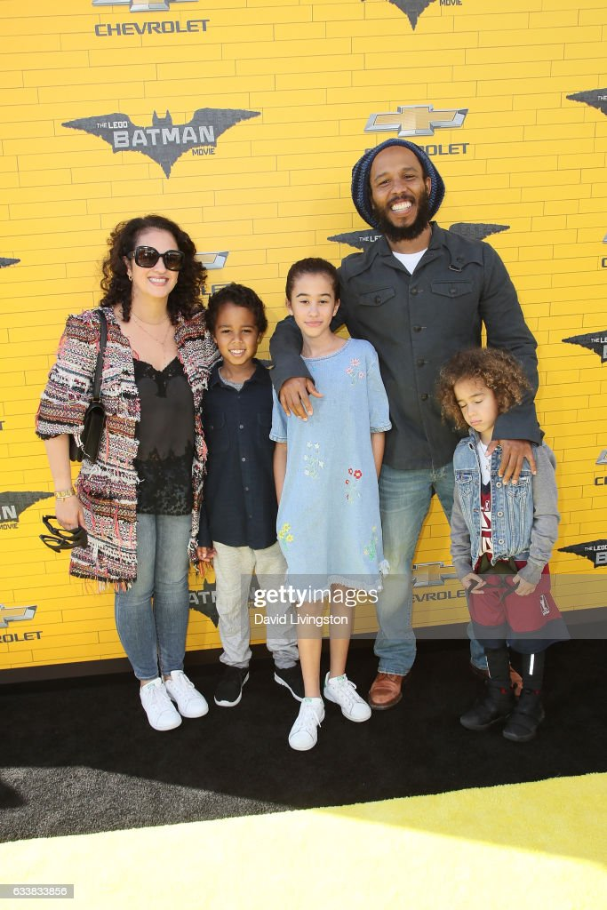 Musician Ziggy Marley and family attend the Premiere of Warner Bros. Pictures' 'The LEGO Batman Movie' at the Regency Village Theatre on February 4, 2017 in Westwood, California.