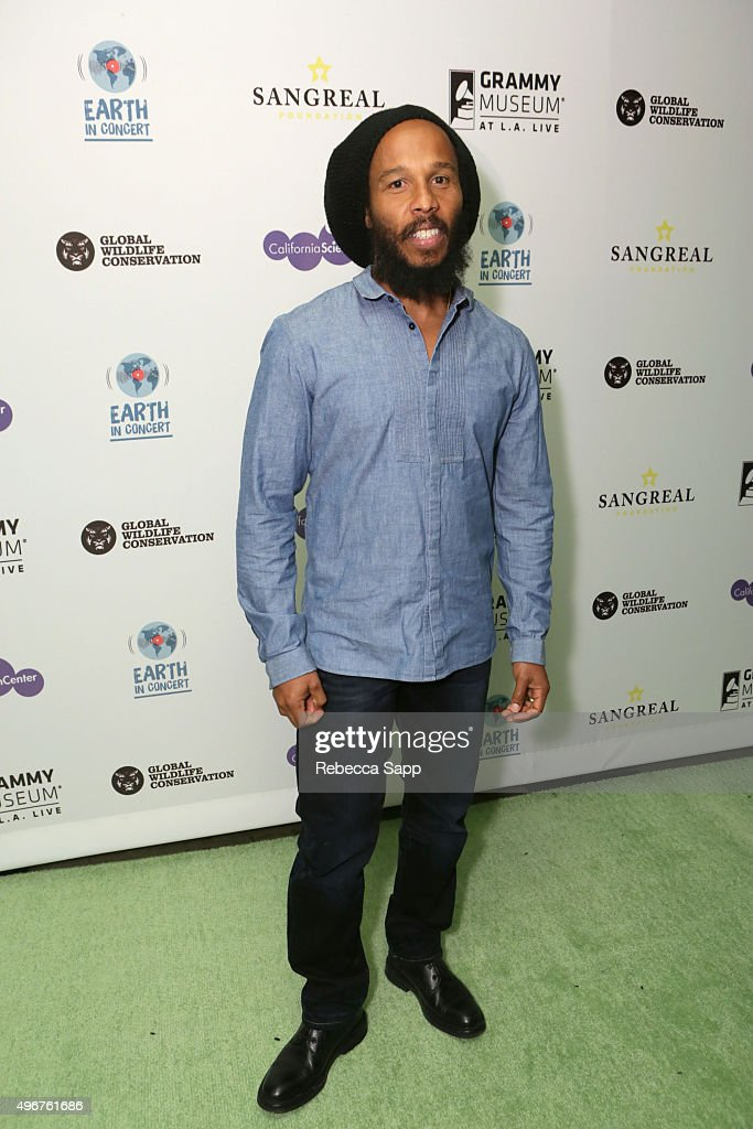 Musician Ziggy Marley attends Earth in Concert at Club Nokia on November 11 2015 in Los Angeles California
