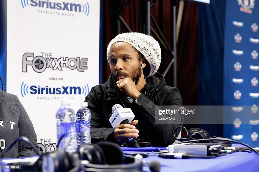 Musician Ziggy Marley attends SiriusXM's The Foxxhole at Super Bowl XLVIII Radio Row on January 31, 2014 in New York City.