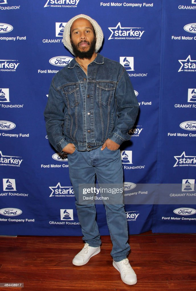 Musician Ziggy Marley attends The 56th annual GRAMMY awards basic training camp at USC on January 22 2014 in Los Angeles California