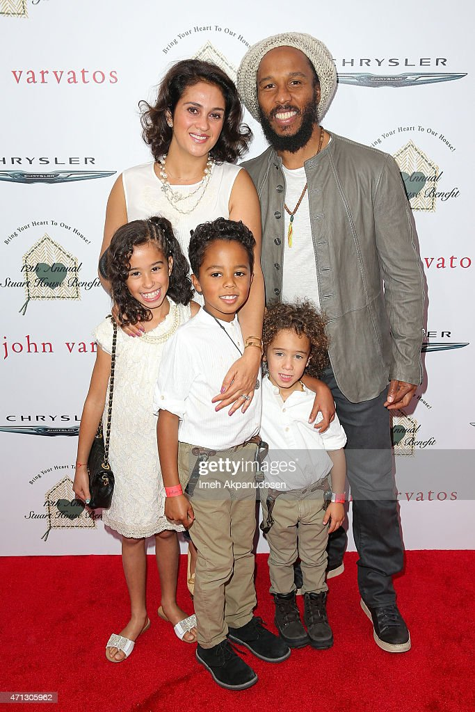 Musician Ziggy Marley his wife Orly Marley and their children attend the 12th Annual John Varvatos Stuart House Benefit at John Varvatos on April 26...