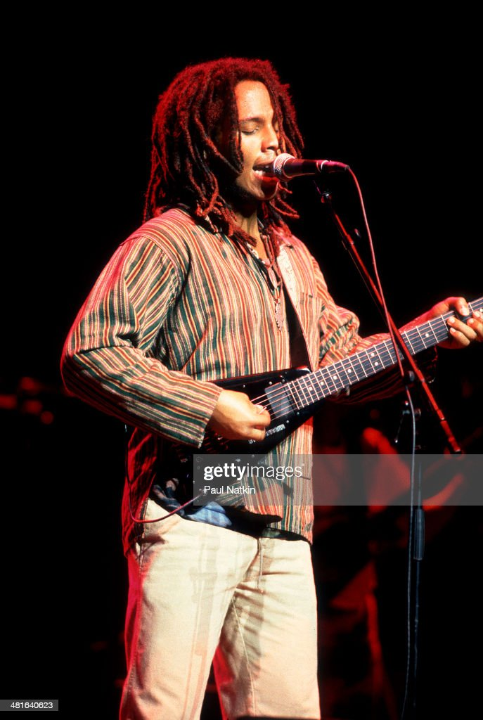 Musician Ziggy Marley performs onstage Chicago Illinois September 5 1989